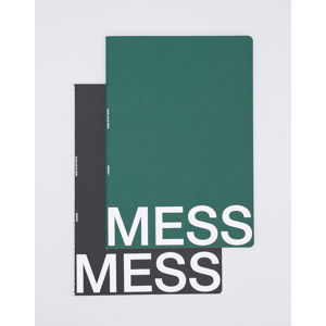 Nomess Mess Study Book L Black/Dark Green