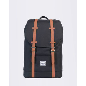 Herschel Supply Retreat Mid-Volume Black/Tan Synthetic Leather