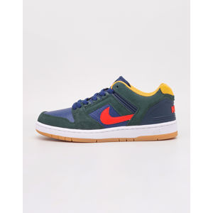 Nike SB Air Force II Low Midnight Green/ Habanero Red - Blue Void 42