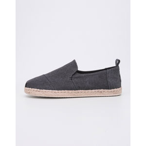 Toms Deconstructed Alpargata Rope Black Washed Canvas 42