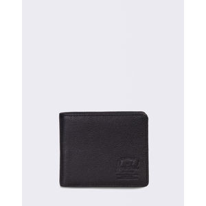 Herschel Supply Roy + Coin XL Leather RFID Black Pebbled Leather
