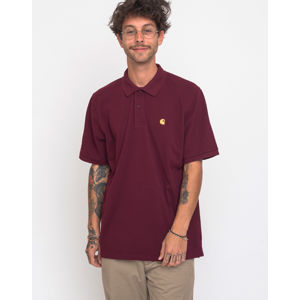 Carhartt WIP Chase Pique Polo Merlot/Gold XL