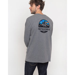 Patagonia L/S Fitz Roy Scope Responsibili-Tee Gravel Heather S