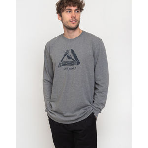 Patagonia L/S Live Simply Pocketknife Responsibili-Tee Gravel Heather L