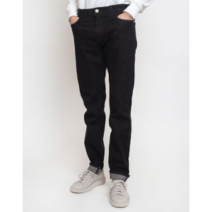 Knowledge Cotton Ash Tapered Slim Black Rinse Stretched Selvedge Denim 3042 Black Rinse W32/L32