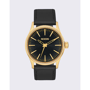 Nixon Sentry 38 Leather Gold Black Sunray