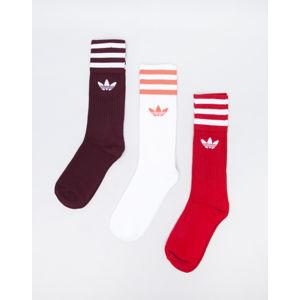 adidas Originals Solid Crew Sock Collegiate Burgundy/ Scarlet/ White 39-42