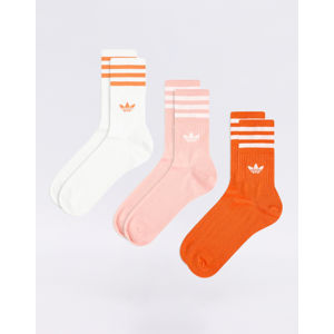 adidas Originals Mid Cut Crew Sock Glory Amber/ Glory Pink/ White 35-38