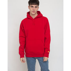 Carhartt WIP Hooded Chase Sweat Etna Red/Gold L