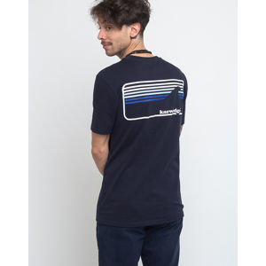 Knowledge Cotton Signature Wave Tee 1001 Total Eclipse XL