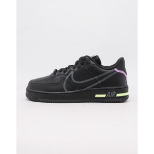 Nike Air Force 1 React Black/ Anthracite - Violet Star - Barely Volt 45