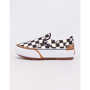 Vans Classic Slip-On Stacked (Checkerboard) Black/ True White 37