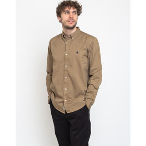 Carhartt WIP L/S Madison Shirt Leather/Dark Navy XL