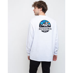 Patagonia M's L/S Fitz Roy Scope Responsibili-Tee White L