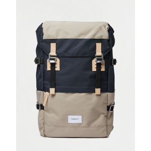 Sandqvist Harald Multi Beige/Navy with Natural Leather