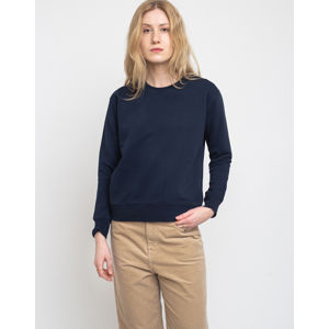 Colorful Standard Women Classic Organic Crew Navy Blue L