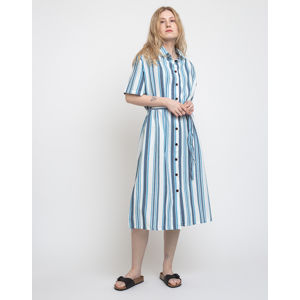 Thinking MU Blue Stripes Mandy Dress Blue Stripes Fabric L