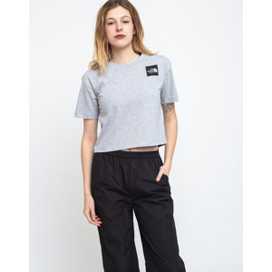 The North Face W Cropped Fine Tee Tnf Light Grey Heather L