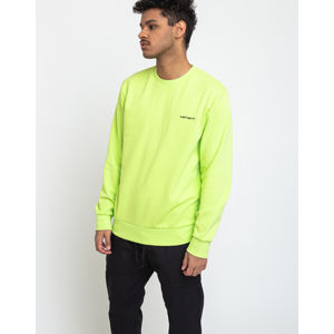 Carhartt WIP Script Embroidery Sweat Lime/Black M