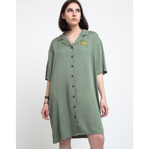Lazy Oaf Dancing Flowers Shirt Dress Green M