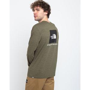The North Face Ls Red Box Tee Burntolive S