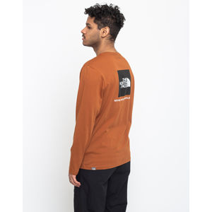 The North Face Ls Red Box Tee Caramel Cafe L