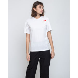 The North Face W Bf Redbox Tee Tnf White/Fiery Red M