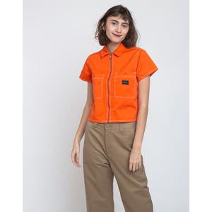 Obey Bailey Work Shirt Flame Orange XS