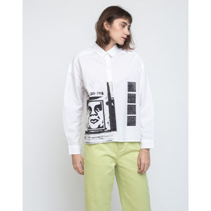 Obey Salon Shirt White S
