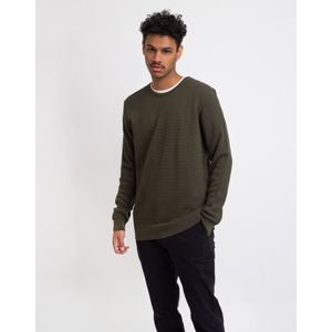 Knowledge Cotton Field O-neck Sailor Knit 1090 Forrest Night L