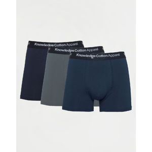 Knowledge Cotton Maple 3 Pack Underwear 1307 Moonlite Ocean L