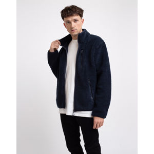Knowledge Cotton Elm Zip Teddy Fleece Sweat 1001 Total Eclipse M