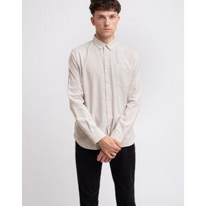 Knowledge Cotton Elder Regular Fit Melange Flannel Shirt 1165 Greige L