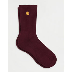 Carhartt WIP Chase Socks Bordeaux / Gold