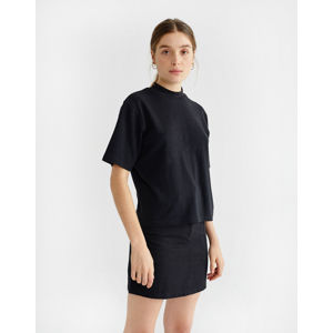 Thinking MU Black Hemp Aidin T-shirt Black XS