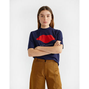 Thinking MU Beso Navy Mock T-shirt Navy S