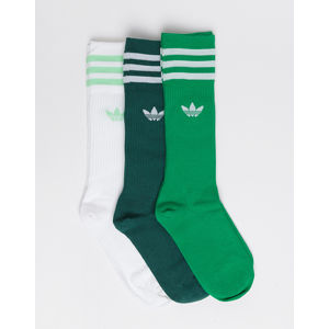adidas Originals Solid Crew Sock WHITE/GREEN/CGREEN 35-38
