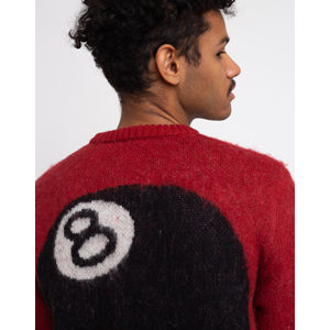 Stüssy 8 Ball Hvy Brushed Mohair Swtr Red M
