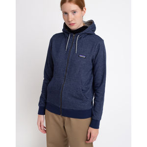 Patagonia W's P-6 Label French Terry Full-Zip Hoody Navy Blue XS