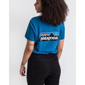 Patagonia W's P-6 Logo Organic Crew T-Shirt Steller Blue M
