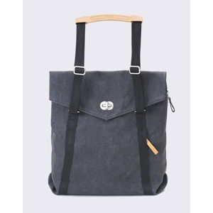 Qwstion Tote Washed Black