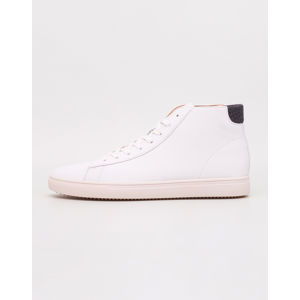 Clae Bradley Mid White Full Grain Leather Black Wool 44