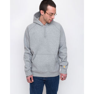 Carhartt WIP Hooded Chase Sweat Grey Heather / Gold M