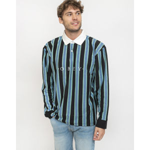 Obey Firm Classic Polo Ls Black Multi XL