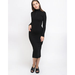 Thinking MU Black Lin Neck Dress Black XS