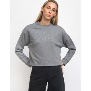 Rotholz Spacing Cropped Sweater Grey Melange L