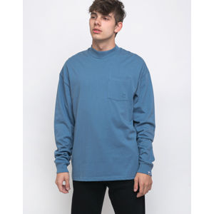 Lazy Oaf Long Sleeve Pocket Tee Blue L