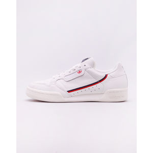 adidas Originals Continental 80 Whitin/ Off White/ Scarlet 46