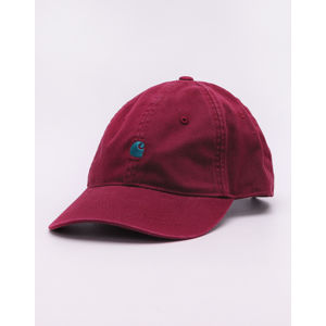Carhartt WIP Madison Logo Cap Merlot / Dark Fir M