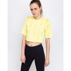 Nike Sportswear Shadow Stripe Top Yellow Pulse/White L